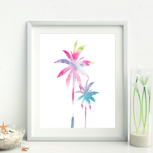 Colorful Palm Tree Print