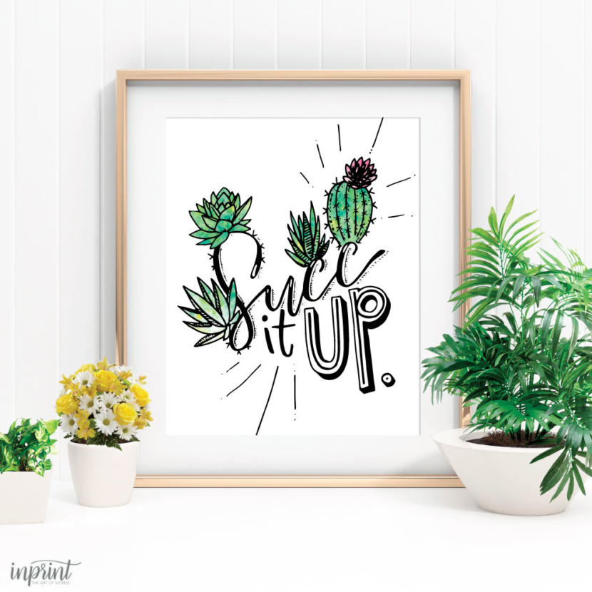 Succulent Wall Art Printable