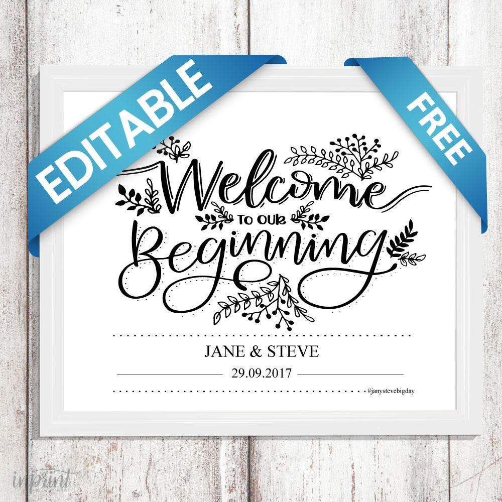 Free Editable Wedding PDF