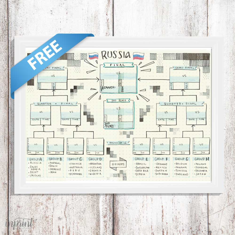 Free World Cup Prints   Downloadable - Instant PDF printable