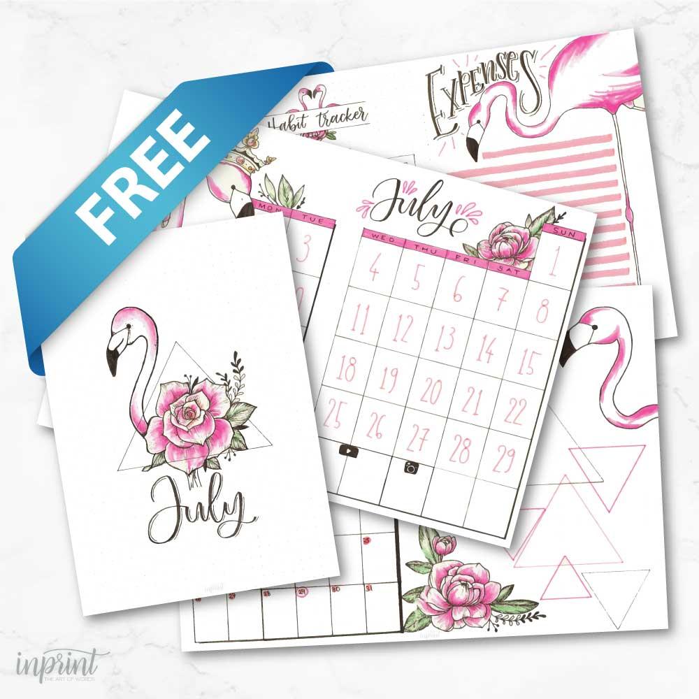 Free July Bullet Journal Printable