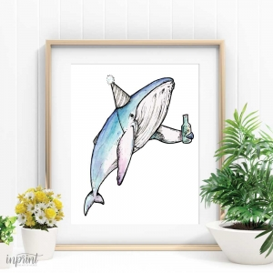 Party Whale Printable
