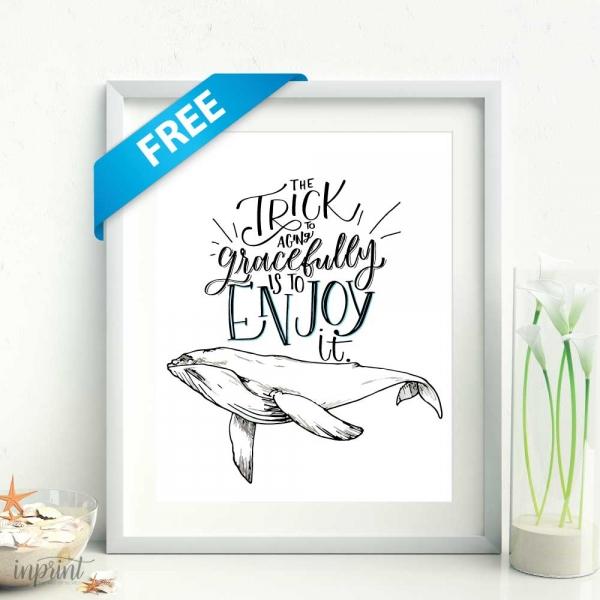 Free Whale Printable