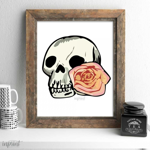 Flower Skull Printable